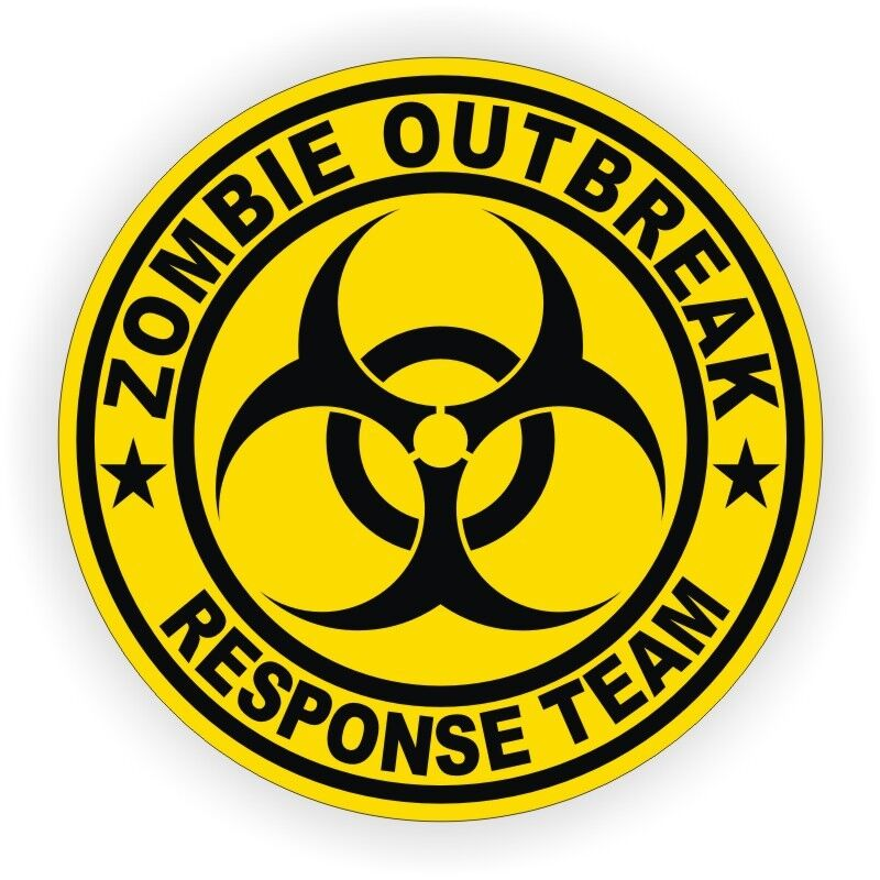 Zombie Outbreak Response Team Hard Hat Sticker - Helmet ...
