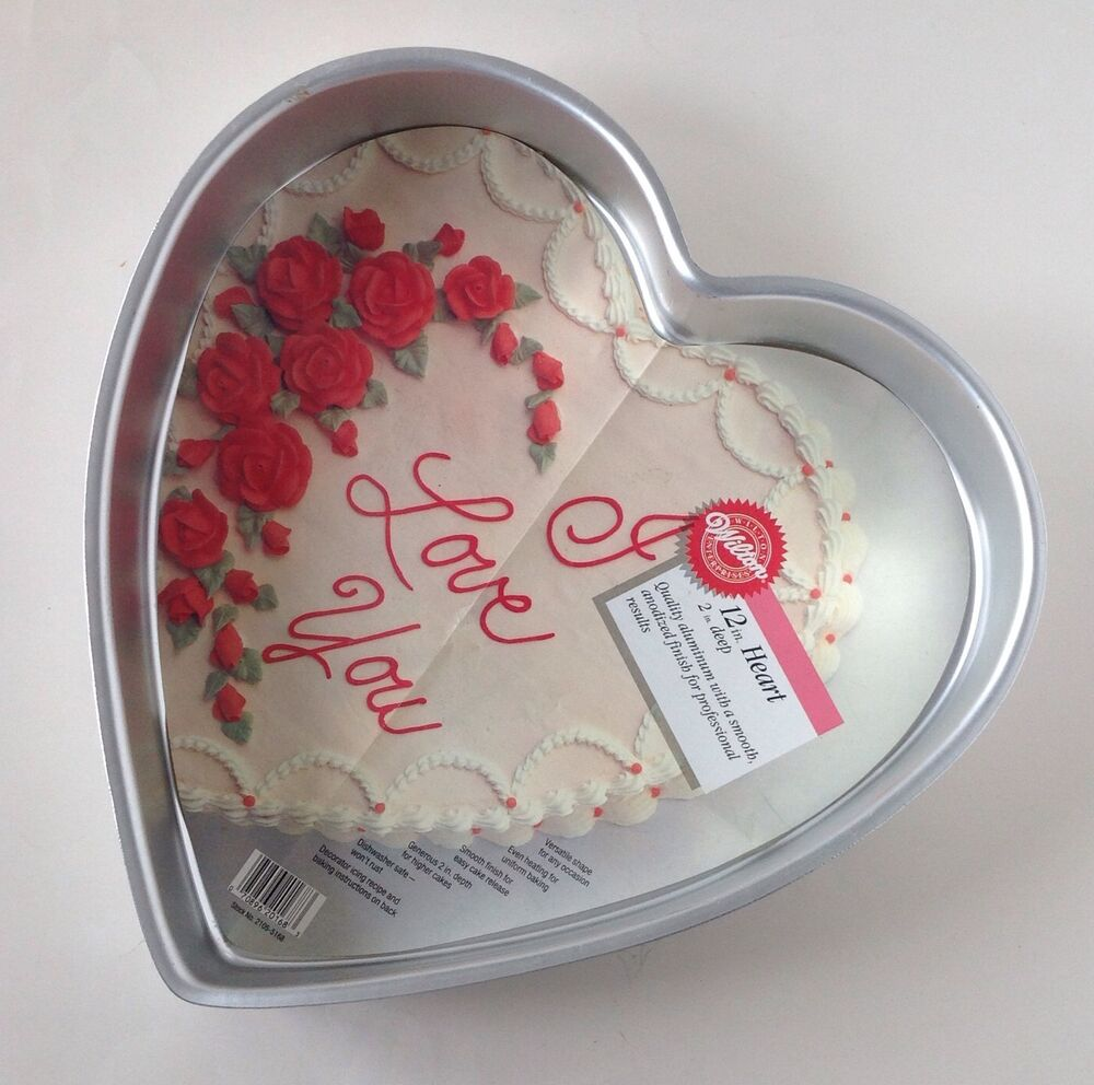Wilton 12 Quot Heart Shaped Cake Pan With Insert Ebay