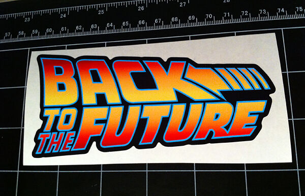 back to the future movie logo style decal sticker bttf. Black Bedroom Furniture Sets. Home Design Ideas