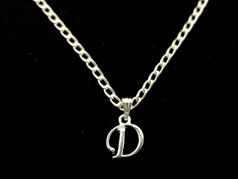 letter a initial necklace personalised initial a z letter alphabet silver plated 17416 | s l1000