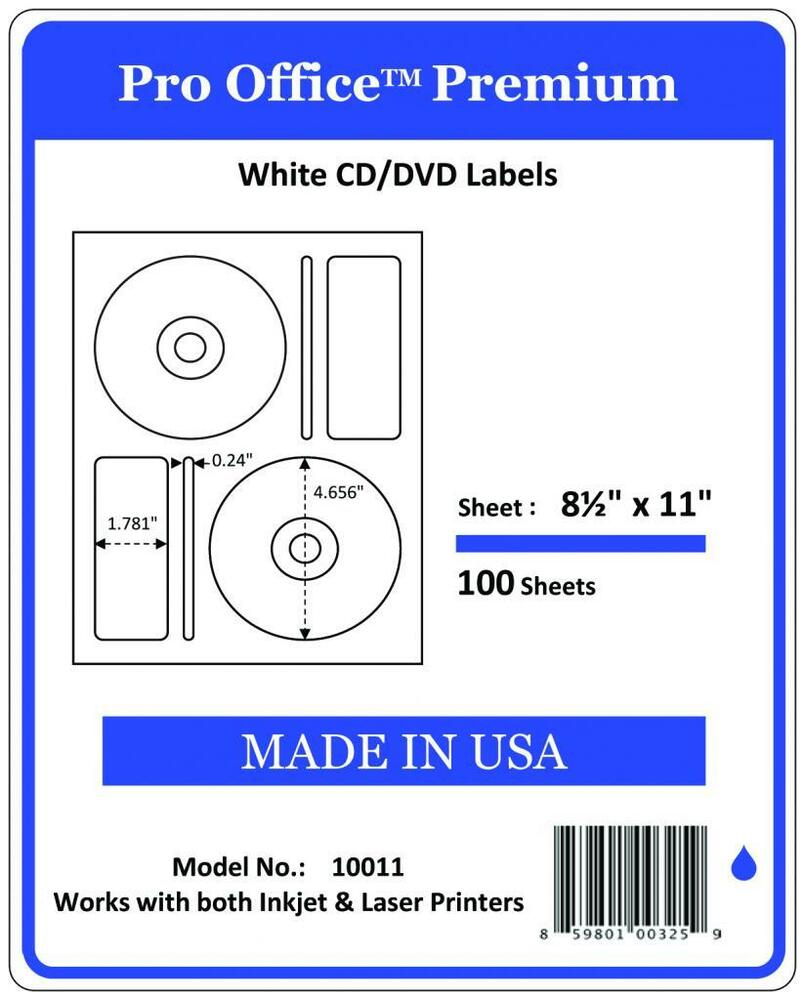 This is a photo of Priceless Memorex White Cd Labels Matte Finish 300 Count