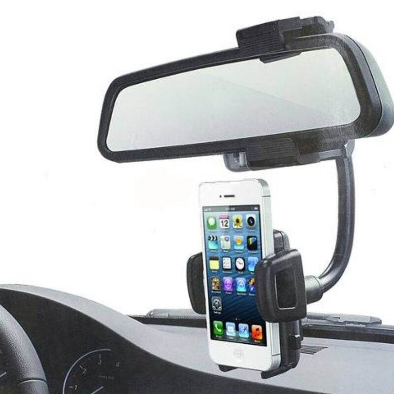 Universal 360 car rearview mirror mount holder stand for Mirror your phone