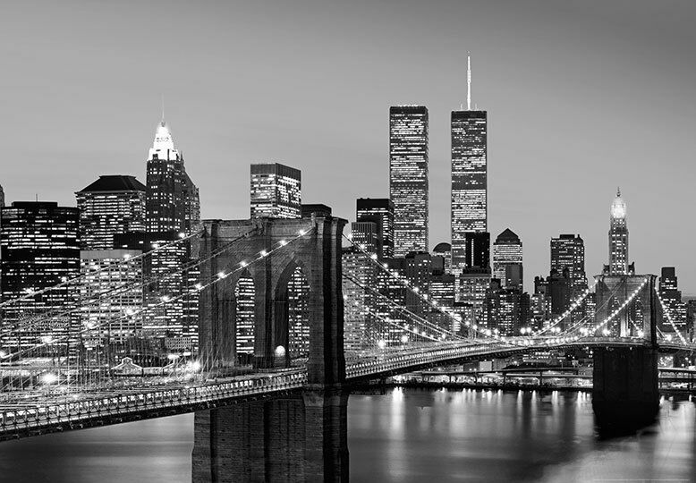 Wall mural photo wallpaper new york city brooklyn bridge for Brooklyn bridge wall mural