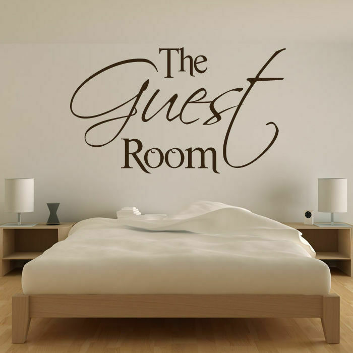 the guest room wall art sticker decal transfer spare bedroom x-large