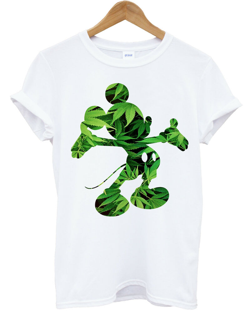 MICKEY MOUSE DOPE WEED T SHIRT RIHANNA DISOBEY HIPSTER T ...