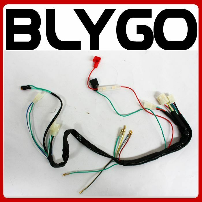 wire wiring harness loom light wire 110cc 125cc 140cc