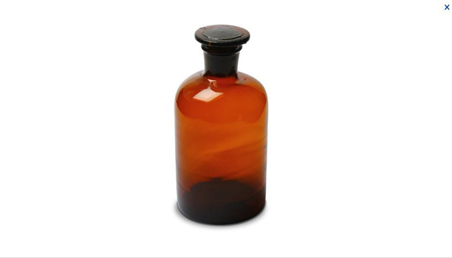Glass Amber Lab Reagent Bottle Narrow Mouth 500 Ml With