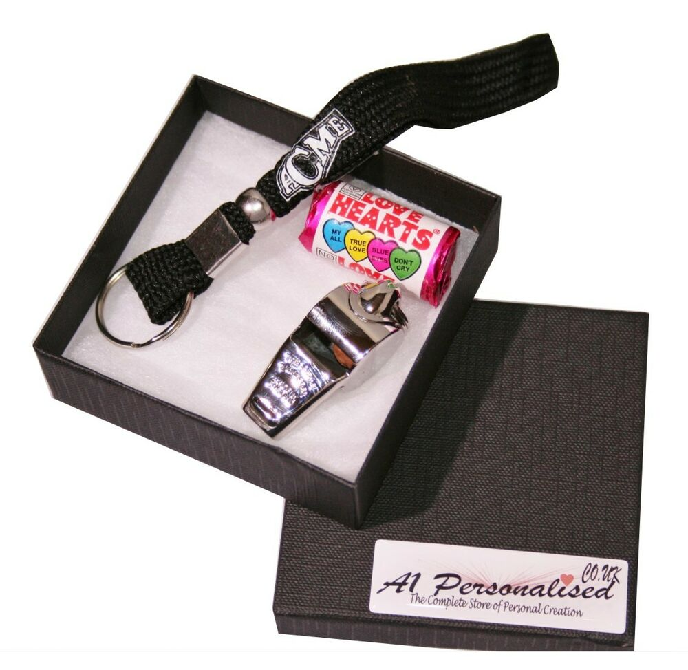 Details about PERSONALISED ENGRAVED ACME THUNDERER REFEREE WHISTLE & GIFT BOX FREE ENGRAVING