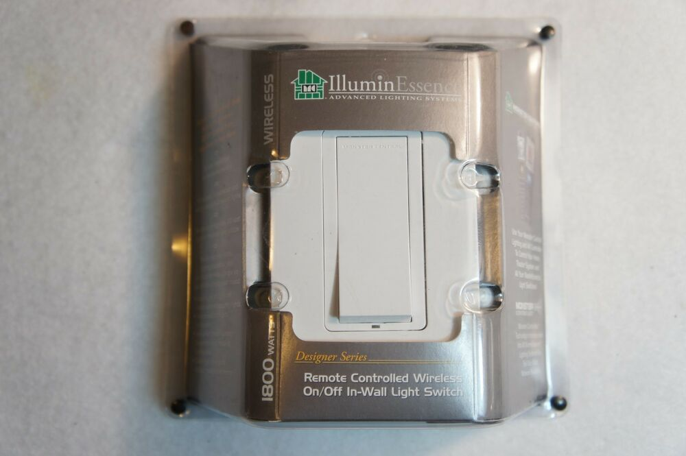 Fan Or Light Wall Remote Control : Leviton Illumin Essence Wireless Remote Control In-Wall Light Switch ML IWS1000S eBay