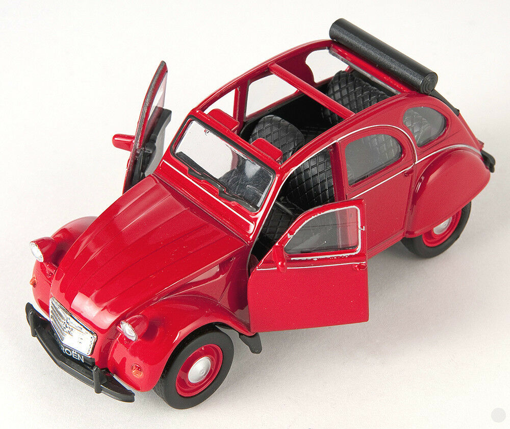 blitz versand citroen 2 cv offen rot red ente welly modell auto neu ovp ebay. Black Bedroom Furniture Sets. Home Design Ideas