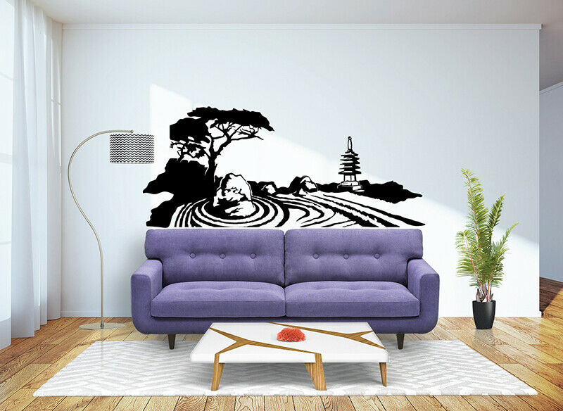 Zen Bedroom Wall Decor : Zen garden wall decal sticker vinyl decor mural bedroom