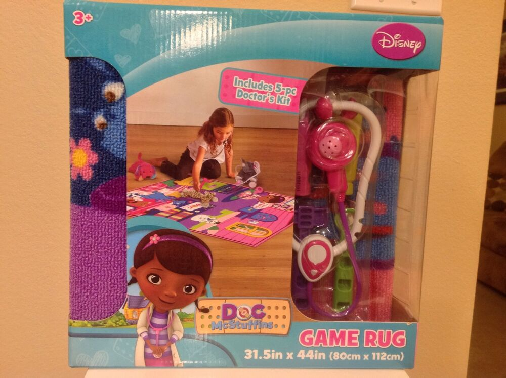 Disney Junior Doc Mcstuffins Game And Play Rug New Ebay