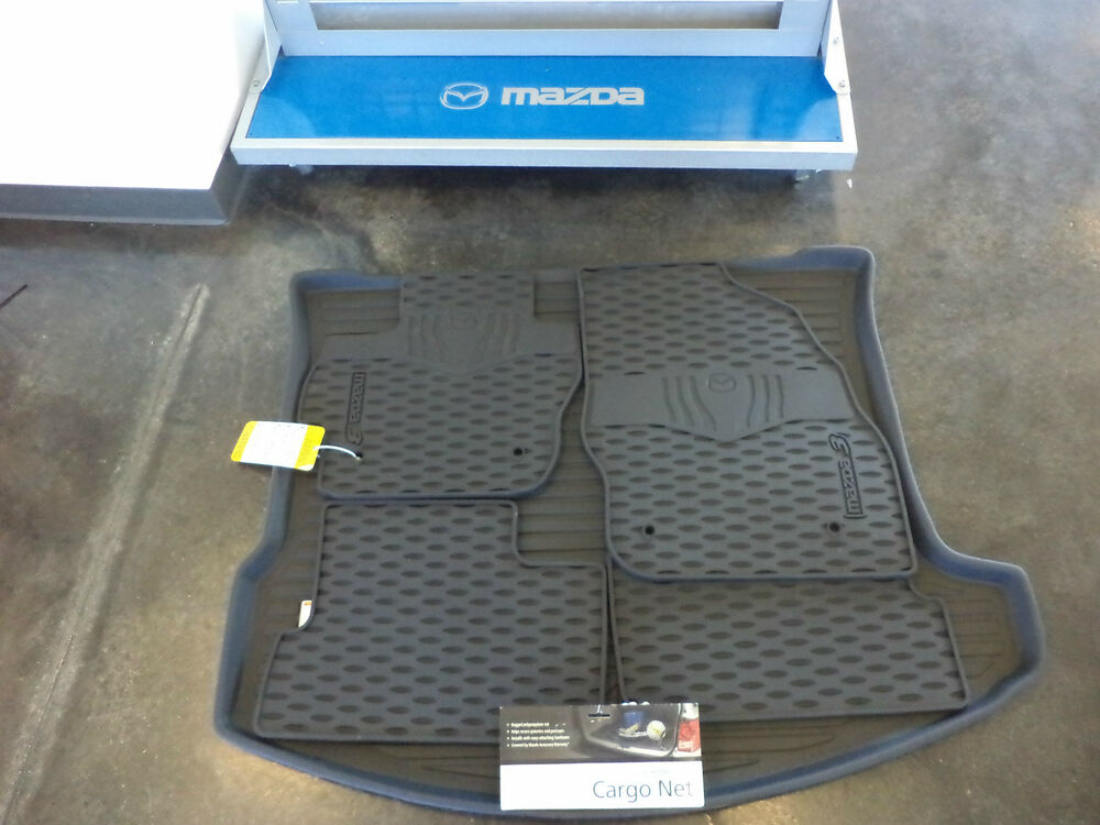 Genuine Mazda 3 4 Door Cargo Net, All Weather Floor Mat & Cargo Tray Combo OEM | eBay