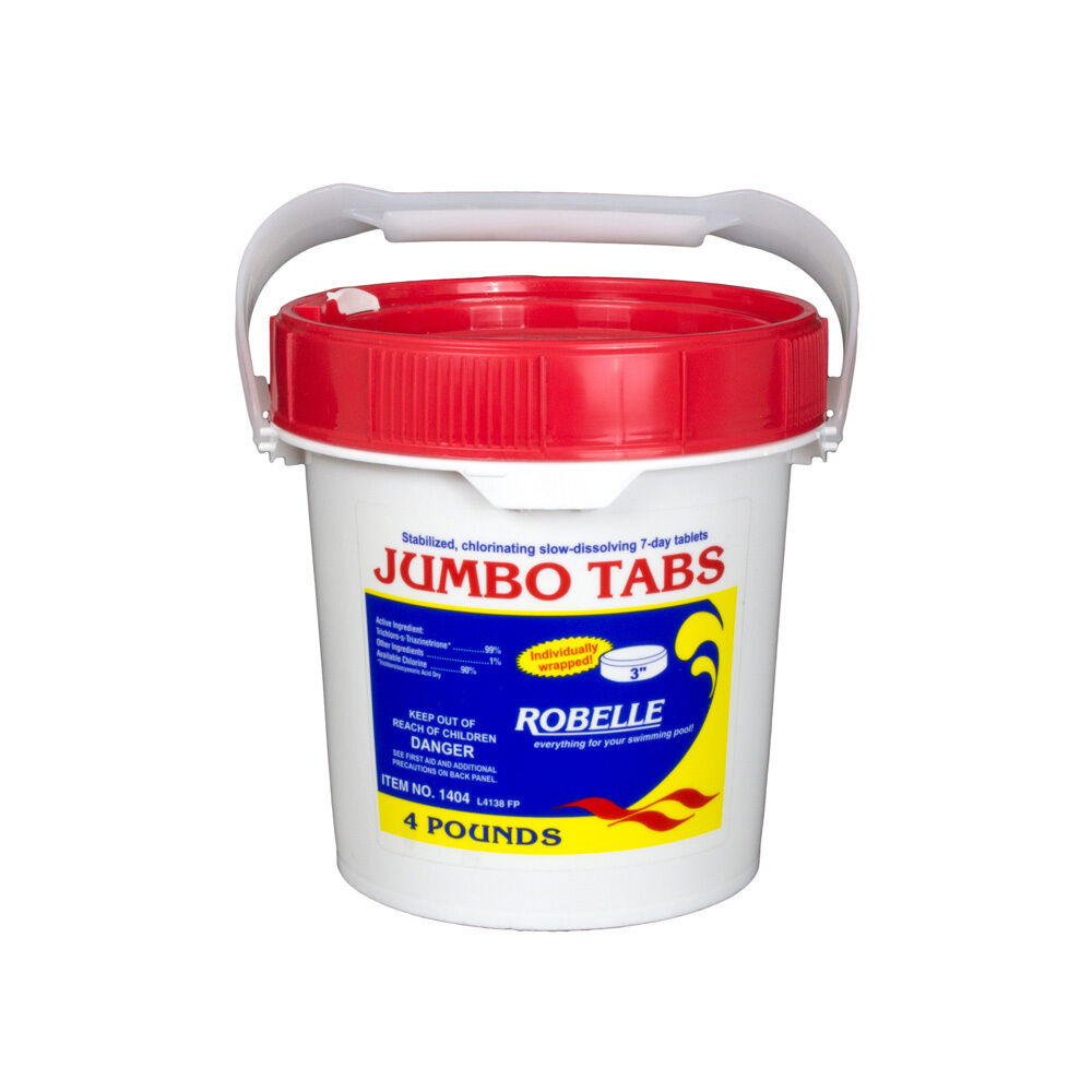 Robelle chemical jumbo tabs 3 chlorine tablets swimming for Pond chemicals