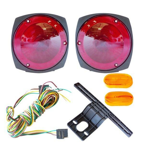 trailer light kit 12v 4 lights  u0026 wire kit  tail lights w