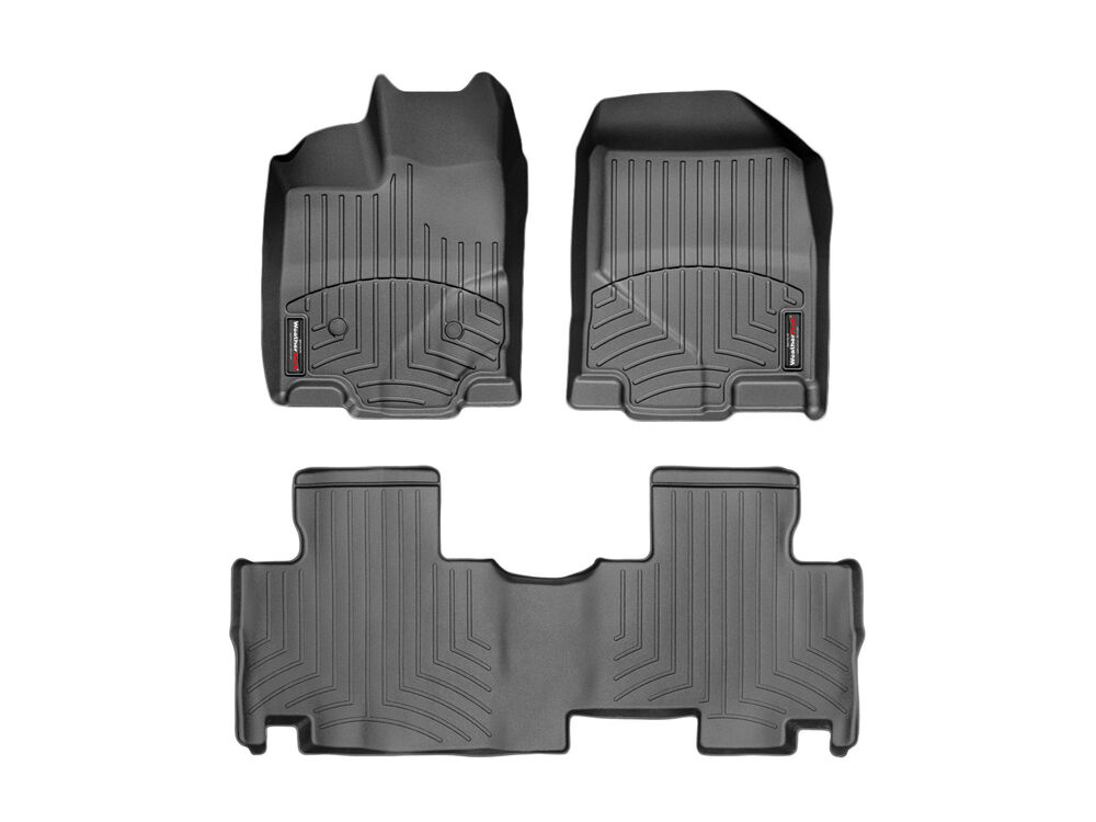 Ford Edge All Weather Floor Mats WeatherTech Floor Mats FloorLiner - Ford Edge - 2011-2014 - Black ...