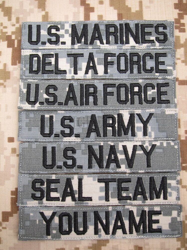 acu chest tapes custom name tapes army seal navy air embroidery patch ebay. Black Bedroom Furniture Sets. Home Design Ideas