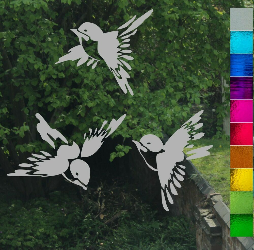 Chinese Bird Stained Glass Etch Frost Effect Greenhouse