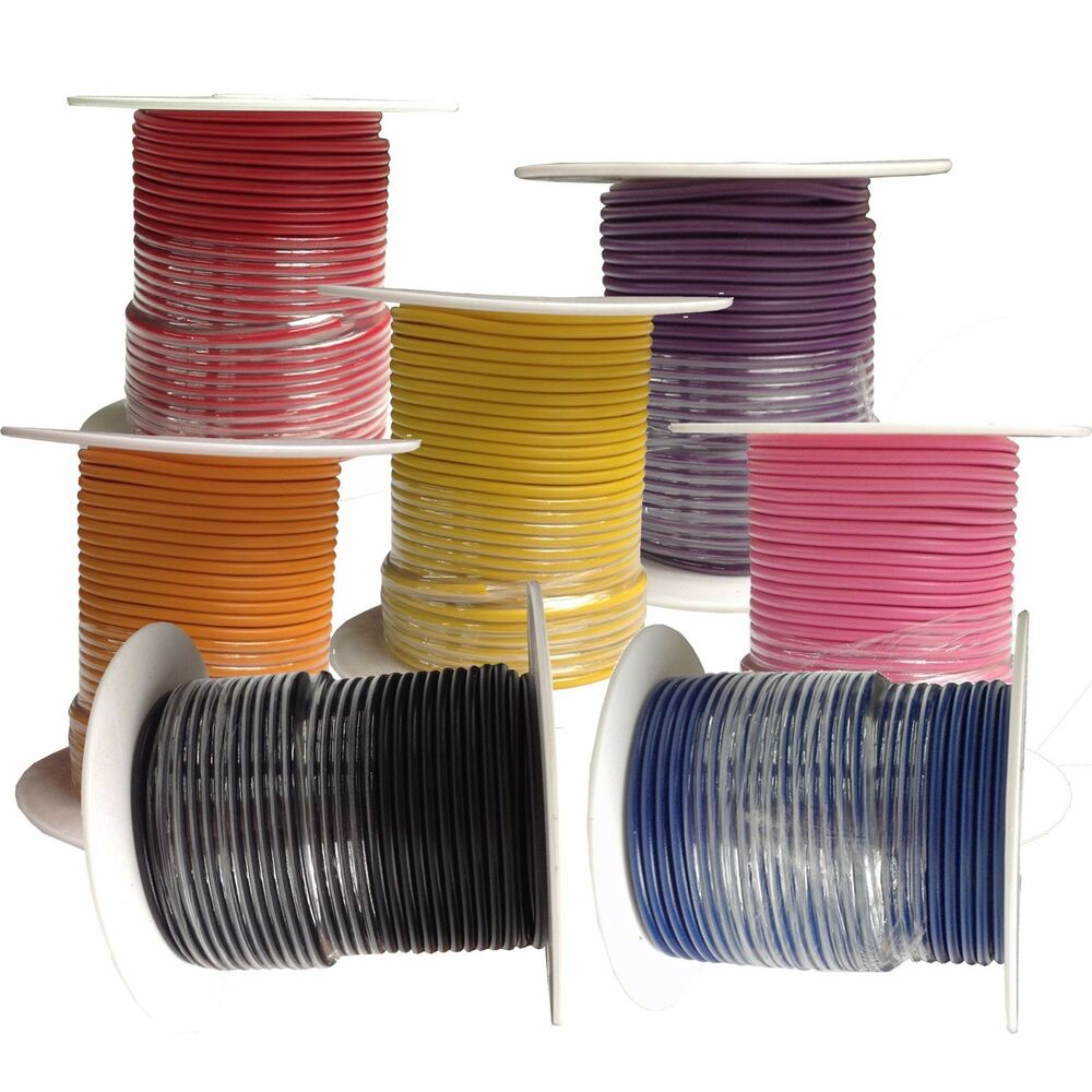 Stranded Copper Wire : Gauge primary wire copper stranded foot rolls