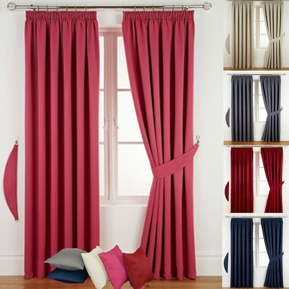 READY MADE BLACKOUT CURTAINS PENCIL PLEAT TAPE TOP LIVING