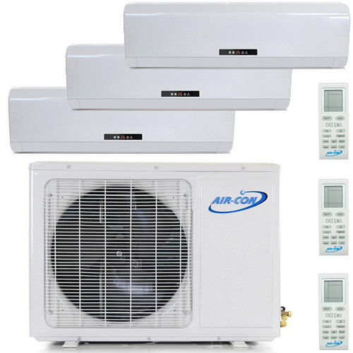 27000 BTU Tri Zone Ductless Mini Split Air Conditioner