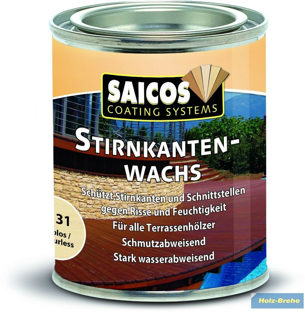 11 96 100ml saicos stirnkanten wachs 8131 siebdruckplatten alle terrassendielen ebay. Black Bedroom Furniture Sets. Home Design Ideas