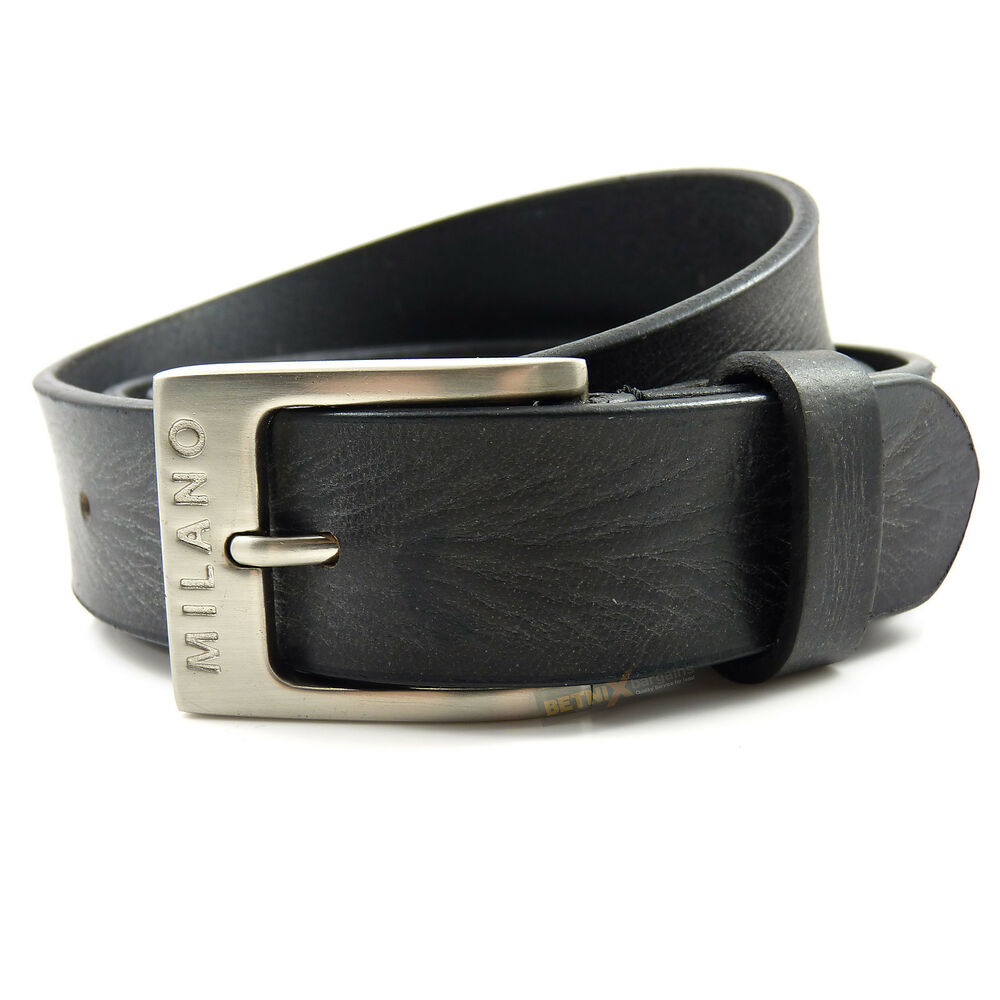 mens real black leather belt 1 25 quot wide quality all sizes