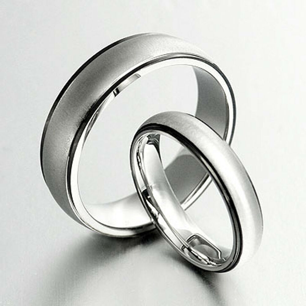 black wedding rings for her groom amp black wedding titanium ring set 053a3 ebay 1882