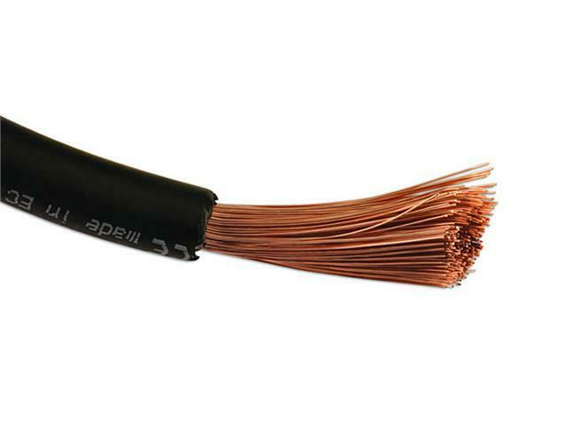 Black Battery Cable : M black battery cable amp for wiring alternator
