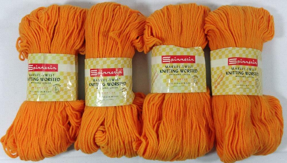 Knitting History Facts : Skeins vintage spinnerin knitting worsted wool yarn