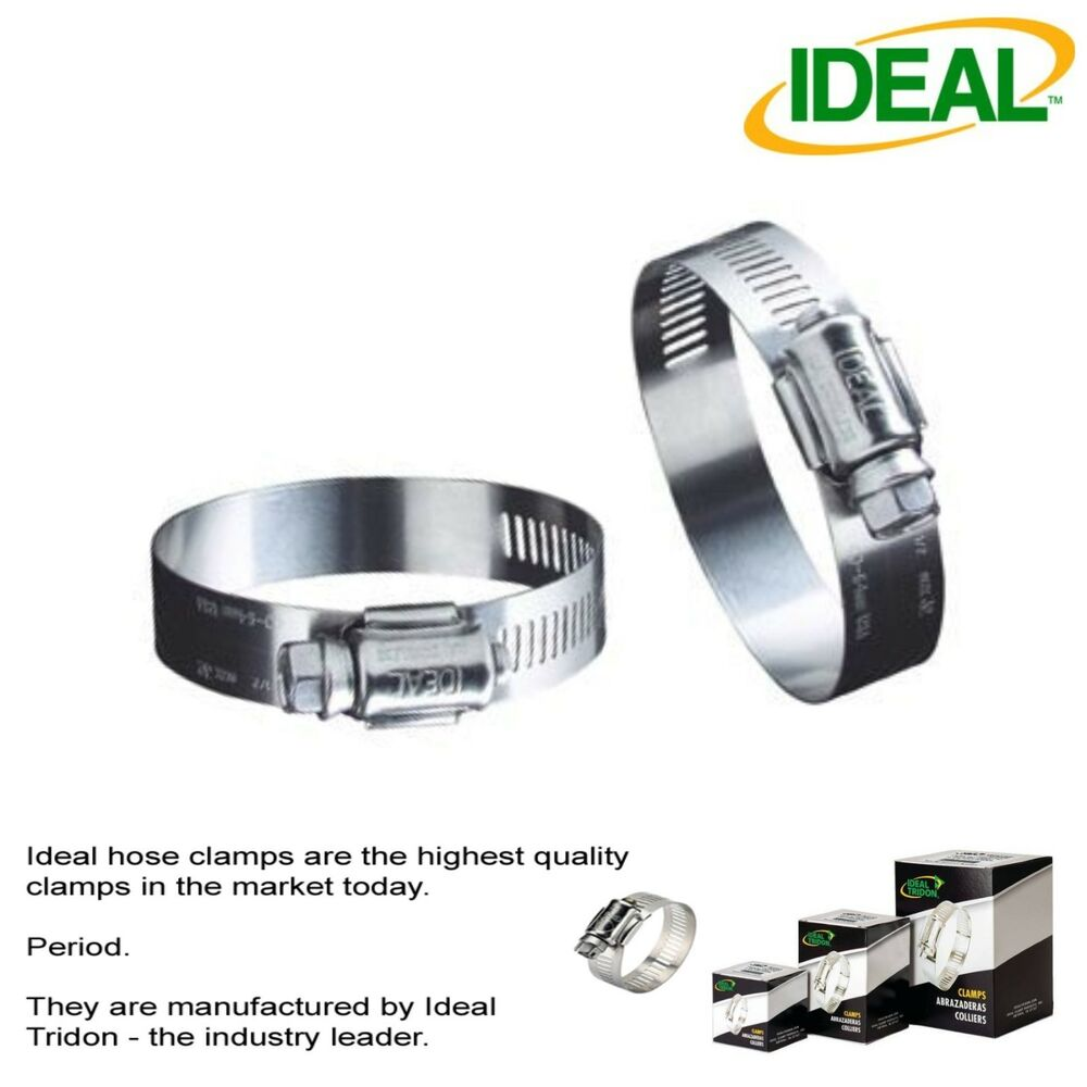 Ideal box of tridon hose clamps size  mm