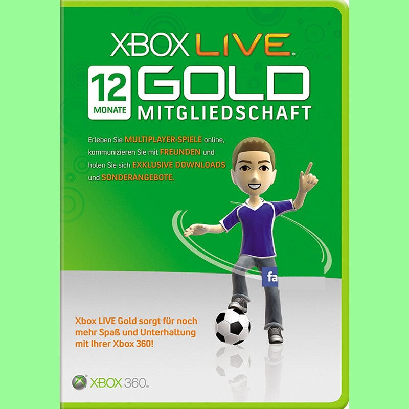 xbox one 360 live 12 monate month gold mitgliedschaft. Black Bedroom Furniture Sets. Home Design Ideas