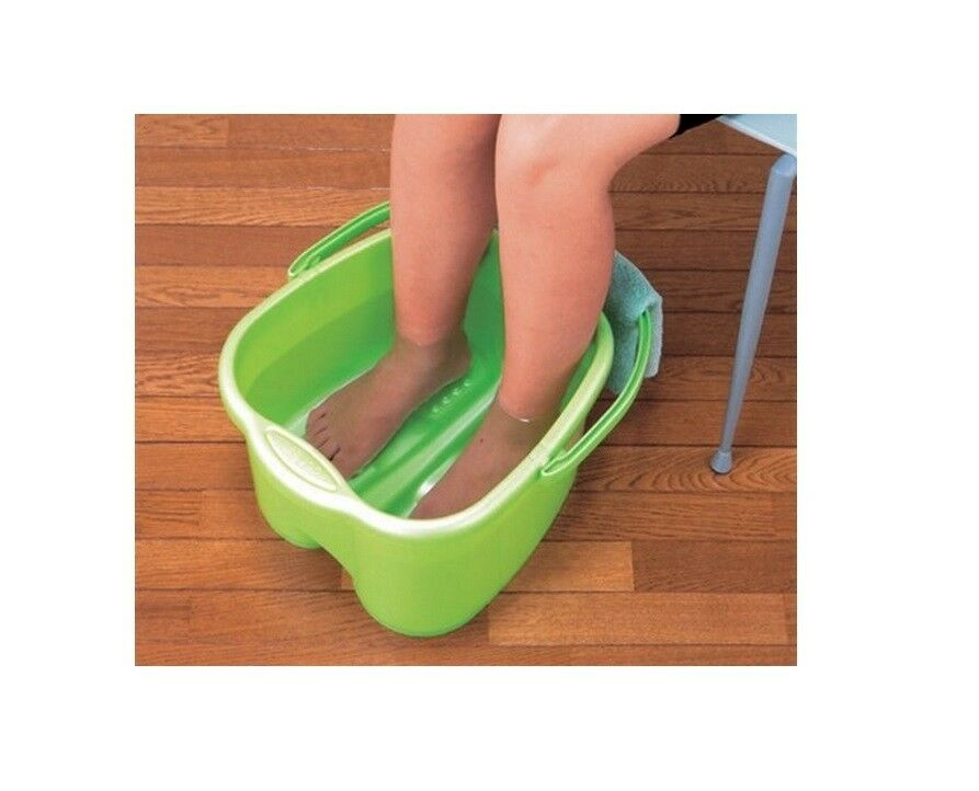 Green foot detox massage spa bucket extra deep tub for for Deepest bathtub available