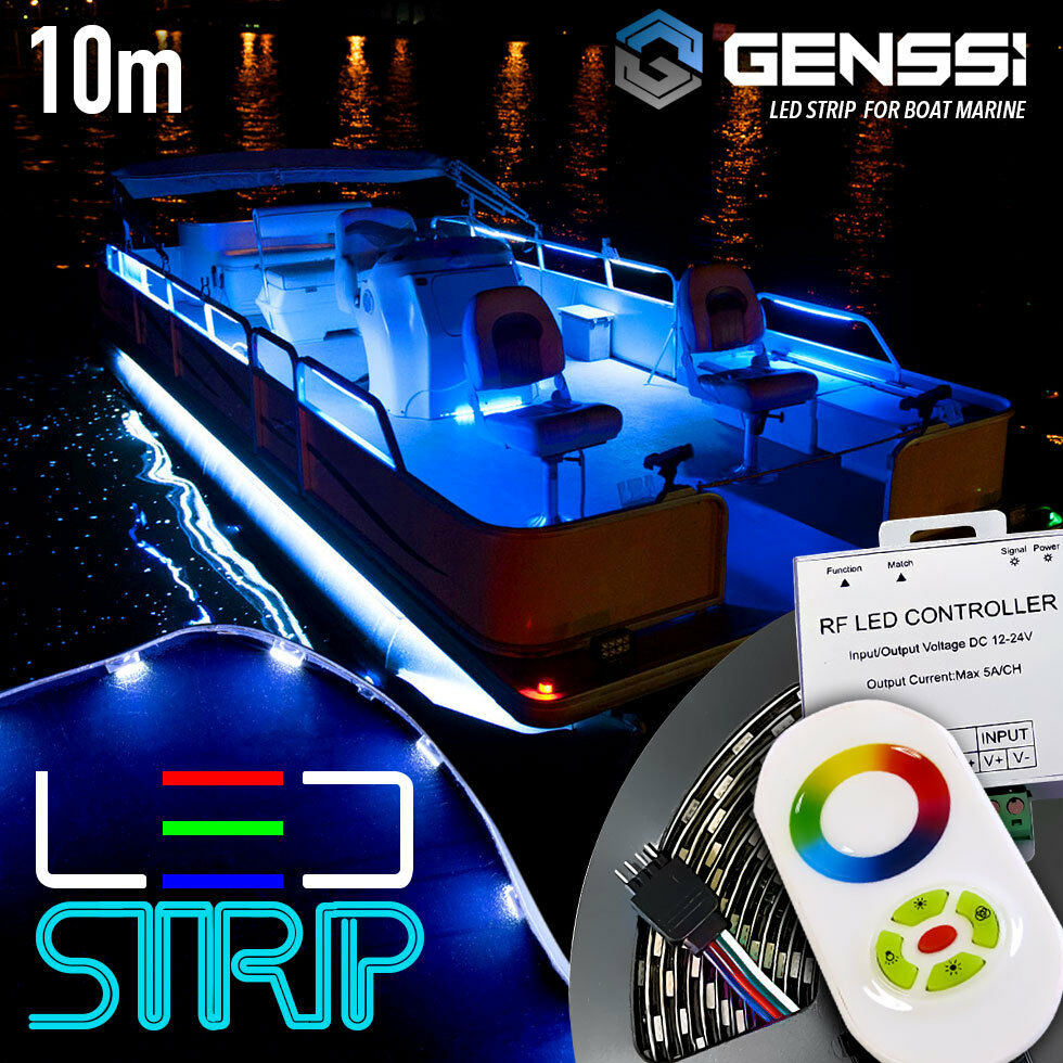 Boat Marine Interior Led Strip Rope Light Kit Rgb Color Change Controller Ebay