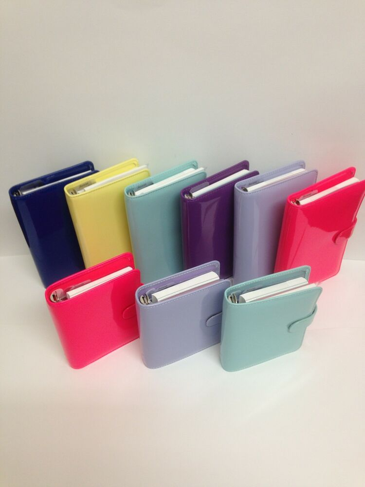 Filofax Patent Compact Personal & Pocket Organisers Brand New Colours ...