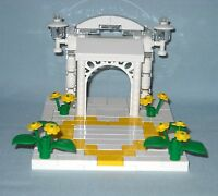 NEW LEGO WEDDING YELLOW HEART & FLOWERS WITH ARCH CAKE TOPPER FOR BRIDE & GROOM