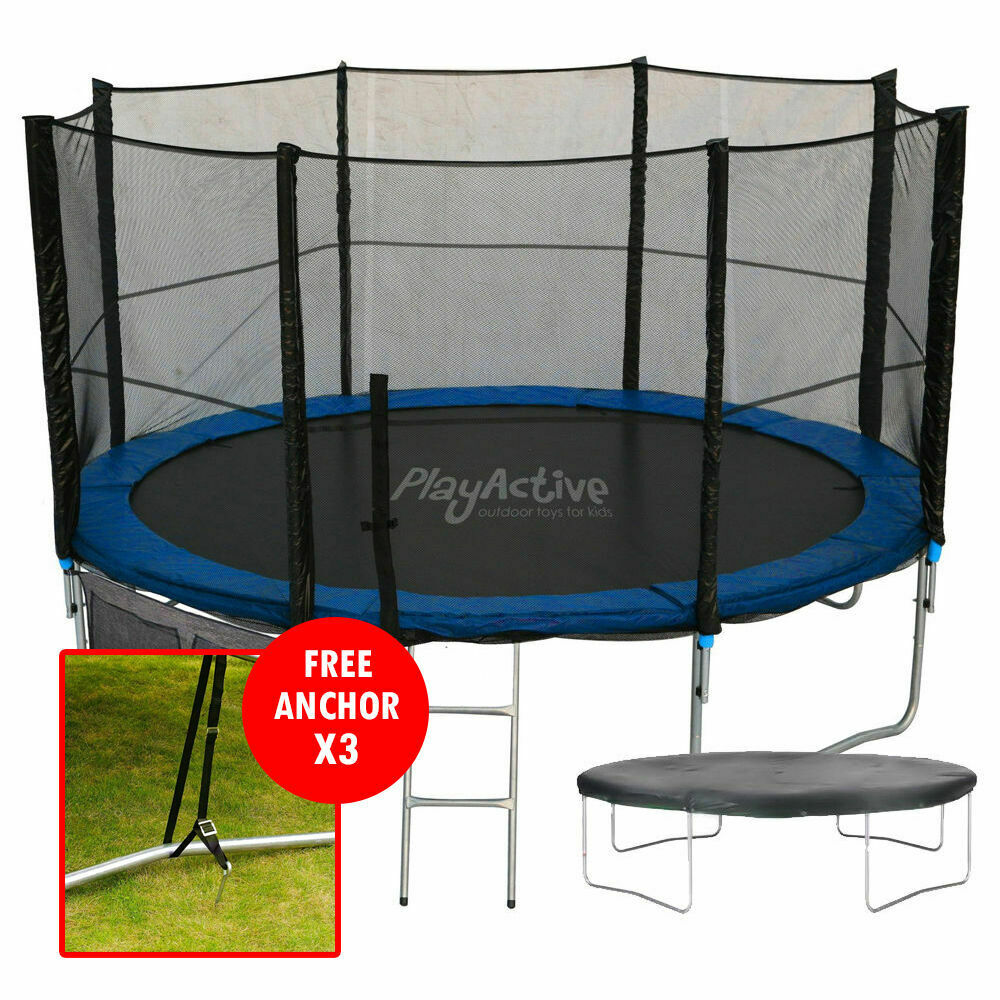 12FT Trampoline With FREE Safety Net Enclosure, Ladder