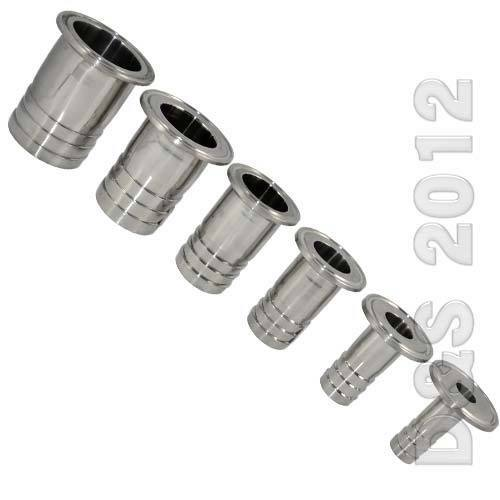 Mm quot sanitary hose barb pipe fitting ss tri clamp