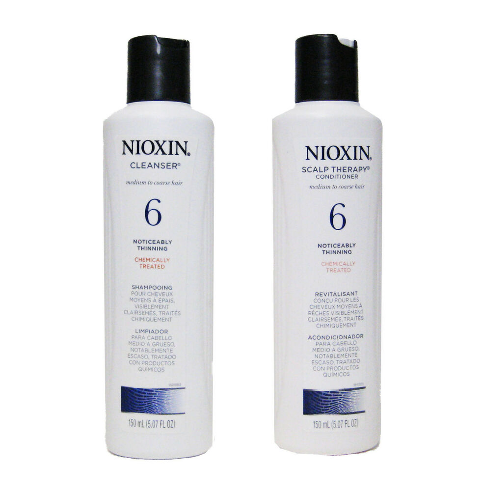 Nioxin System 6 Cleanser And Scalp Therapy Duo Set 5 07 Oz