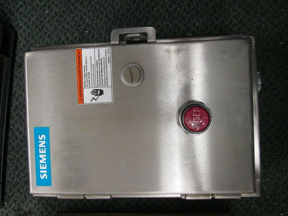 Siemens Stainless Steel Enclosed Starter 14cp12wf81 Size 0