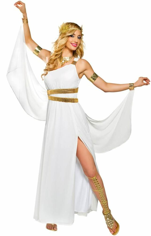GREEK GODDESS VENUS COSTUME ROMAN ATHENA TOGA FEMALE WOMAN ...