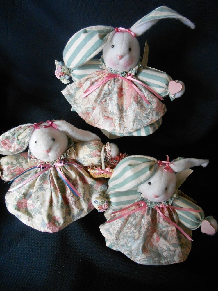Http Www Ebay Com Itm Handmade Usa Vintage But New Tiny Treasures Easter Home Decor Bunny Rabbit Nwt 281297713579