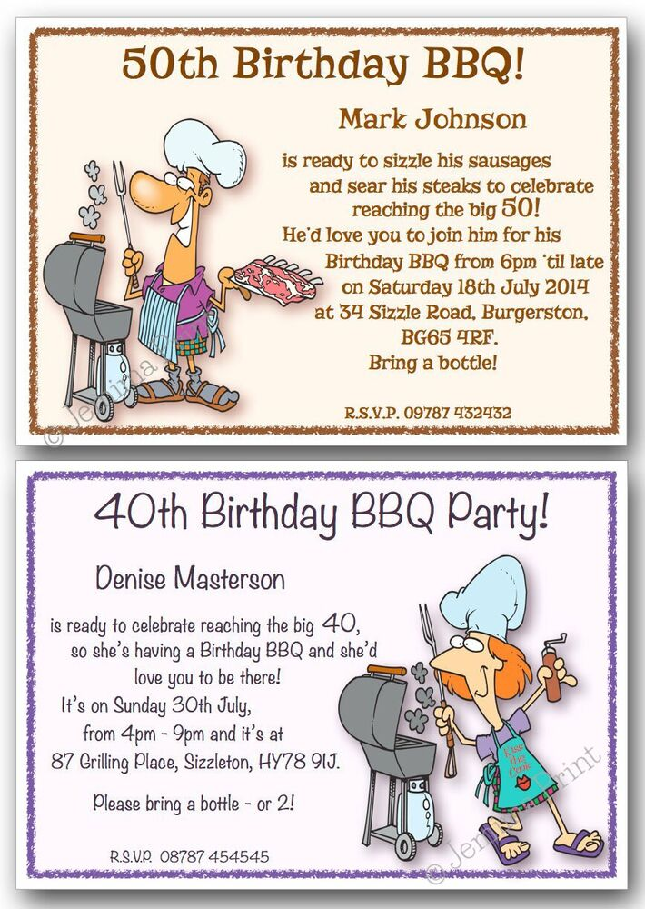 30th 40th 50th 60th 70th 80th personalised BBQ barbecue ...