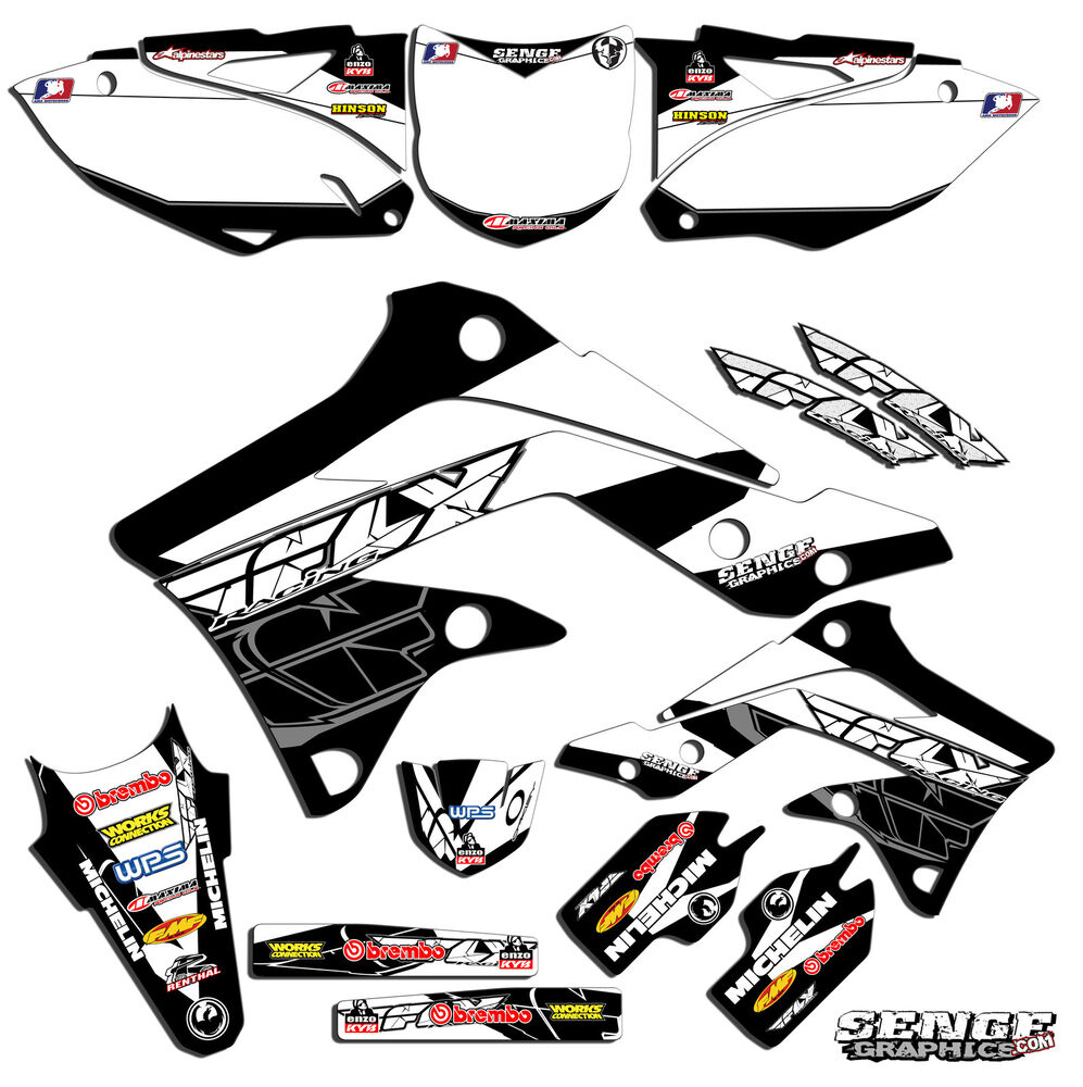 1996 1997 1998 kx 125 250 graphics kit kawasaki kx125 for Sticker deco