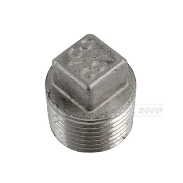 Quot malleable square head pipe fitting plug threaded male
