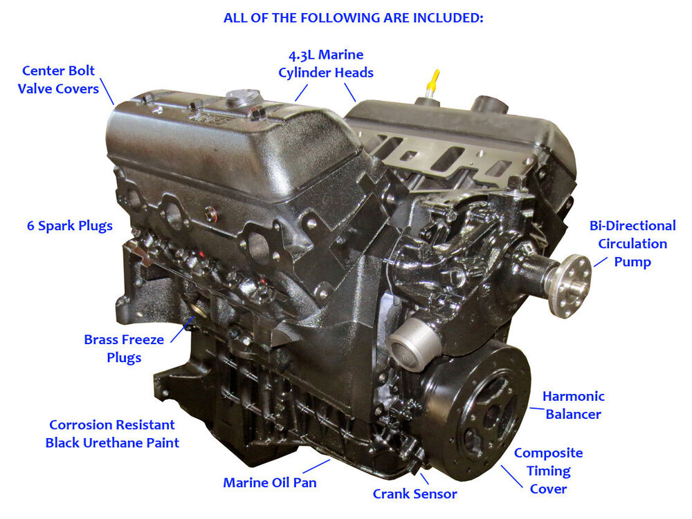 Mercruiser 4 3l Vortec Base Marine Engine  1996-later