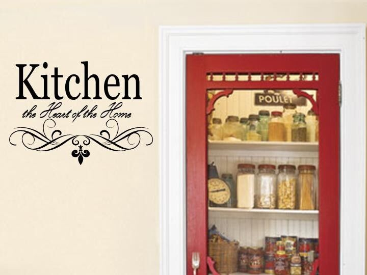 kitchen wall quote vinyl decal lettering words decor