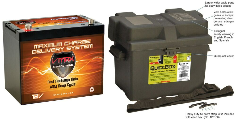 Vmax Mr107 12 Volt 85ah Agm Sla Marine Deep Cycle Battery