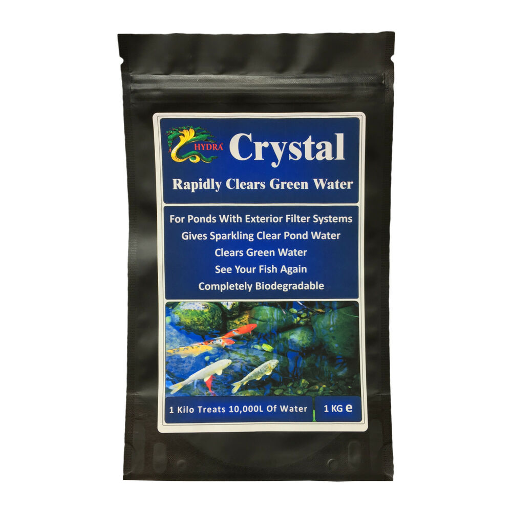 Get crystal clear pond hydra crystal 1 kilo treats 10 000l for How to make koi pond water clear