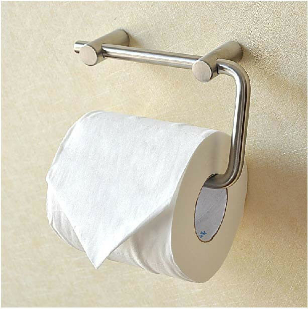 Elegant Bathroom Paper Towel Holder: Elegant Wall Mounted Brushed Nickel Bathroom Toilet Paper